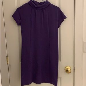 Vintage purple mock neck shift dress